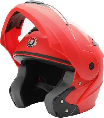 GTB FLIP UP HELMET-RED Motorbike Helmet(Red, Black)