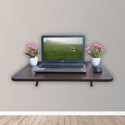 ADROIT Engineered Wood Study Table(Wall Mounted, Finish Color - Brown)