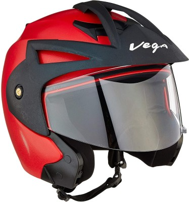 VEGA CRUX OPEN FACE RED Motorbike Helmet Red VEGA Helmets