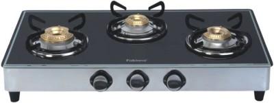 Fabiano Glass Manual Gas Stove(3 Burners)