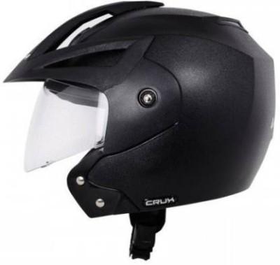 VEGA CRUX OPEN FACE HELMET Motorbike Helmet Black VEGA Helmets