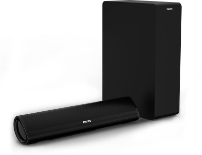 Philips HTL2060/94 60 W Bluetooth Soundbar  (Black, 2.1 Channel)