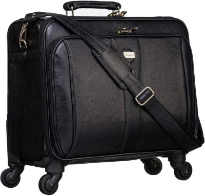 MARFIT Genuine Leather Laptop Overnighter Trolley FA001 Cabin Luggage   18 inch MARFIT Suitcases