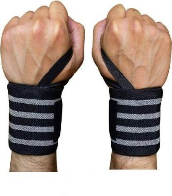 Pocket Whole Wrist Support for Gym Workout, Band Brace Pack of 2 Wrist Support (Grey, Black) Wrist Support