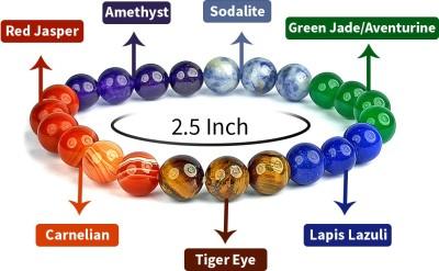 REIKI CRYSTAL PRODUCTS Stone Amethyst, Carnelian, Lapis Lazuli, Quartz, Beads, Crystal Bracelet