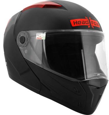 HEADFOX Smart BLUETOOTH with Inbuit PowerBank Motorsports Helmet(Black)