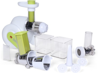 BMS Lifestyle juicer Masticating Juicer Extractor Easy to Clean, Quiet Motor & Reverse Function, BPA-Free, Cold Press Juicer with Brush,...