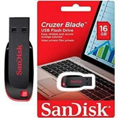 SanDisk Cruzer Blade 16 GB Utility Pendrive 16  GB Pen Drive Black, Red