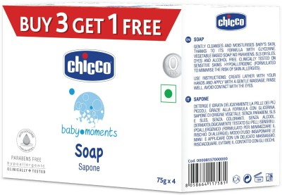 Chicco Soap Baby Moments 75Gr Buy 3 Get 1 Free(4 x 75 g)
