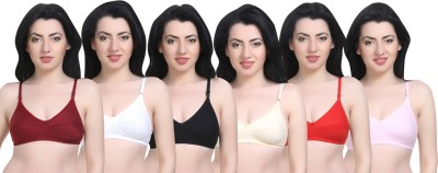 Sexy Bust Women Full Coverage Non Padded Bra(Multicolor)