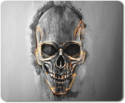 5 ACE skull wiht fire line moud HD Printed designer speed mousepad for Laptop Dekstop gamers Graphic designers-7x8.5 Inches Mousepad(Multicolor)