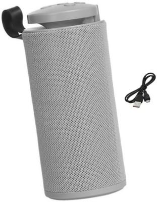 F FERONS Bluetooth Speaker Portable Outdoor Speakers Wireless Column 3D Stereo Music Surround Loudspeaker Soundbar 10 W Bluetooth Speaker(Silver, Stereo...