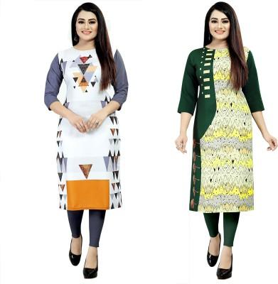 Maruti fab Women Printed A-line Kurta(Multicolor)