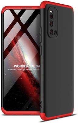 Vodex Front & Back Case for Vivo V19(Red, Dual Protection)