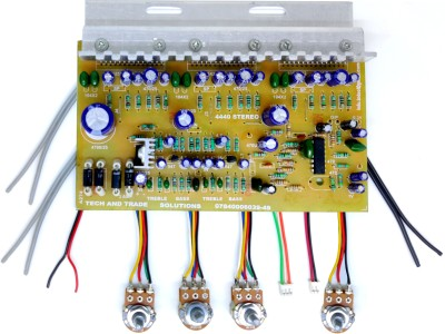 TECH AND TRADE 4440 TRIPLE IC BASED DIY HOME THEATER AUDIO AMPLIFIER CIRCUIT BOARD MUSIC MODULE KIT Sound Recorder and Sound Circuit Electronic Hobby Kit