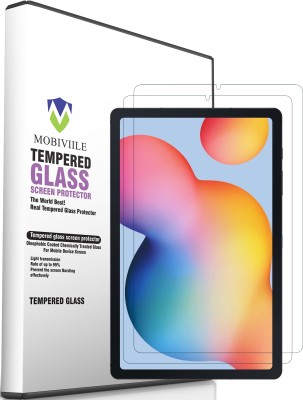 MOBIVIILE Edge To Edge Tempered Glass for Samsung Galaxy Tab S6 Lite 10.4 inch(Pack of 2)