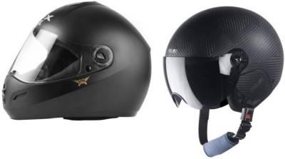 Steelbird 2 Dashing Motorbike Helmet Motorbike Helmet(Black)