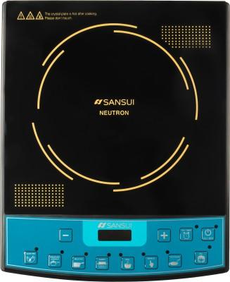 Sansui Neutron 2100 W Induction Cooktop(Black, Gold, Push Button)