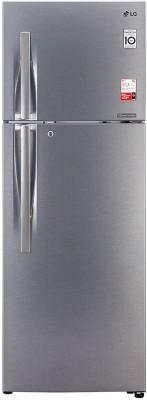 LG 360 L Frost Free Double Door 3 Star Convertible Refrigerator Dazzle Steel, GL T402JDS3 LG Refrigerators