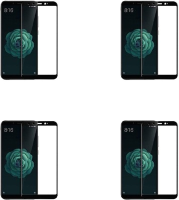 Cravemart Edge To Edge Tempered Glass for Mi A2(Pack of 4)