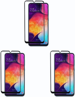 Cravemart Edge To Edge Tempered Glass for Samsung Galaxy A01 Core(Pack of 3)