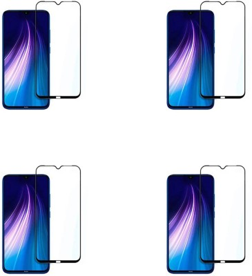 Cravemart Edge To Edge Tempered Glass for Mi Redmi Note 8(Pack of 4)