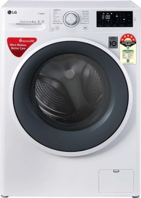 LG 6 kg 5 Star Fully Automatic Front Load with In-built Heater White(FHT1006ZNW.ABWQEIL)