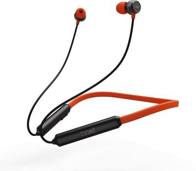 boAt Rockerz 195 Bluetooth Headset(Fiery Black, In the Ear)