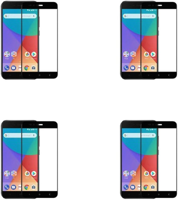 Cravemart Edge To Edge Tempered Glass for Mi A1(Pack of 4)