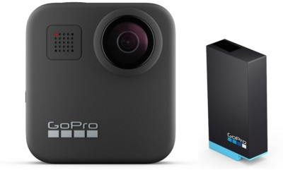 GoPro Max with Rechargeable battery Sports and Action Camera(Black, 16.6 MP)