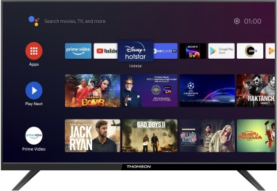 Thomson 9A Series 80cm (32 inch) HD Ready LED Smart Android TV with Bezel Less Display(32PATH0011BL)