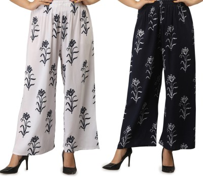 STYLE N SHADES Relaxed Women Blue, White Trousers