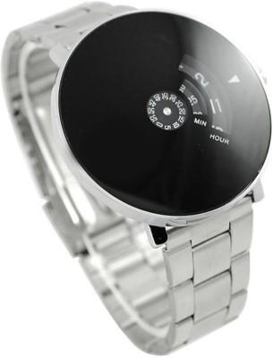 SPLAZOS Couple Analogue Stainless Steel Black Dial Analog Watch - For Men