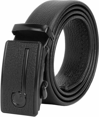 ZORO Men Black Artificial Leather, Texas Leatherite Belt