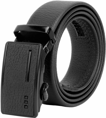 ZORO Men Black Artificial Leather, Texas Leatherite Belt