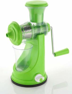 BONIRY Plastic Hand Juicer Fruit and Vegetable Juicer with Steel Handle, Fruit juicer(Green Pack of 1)