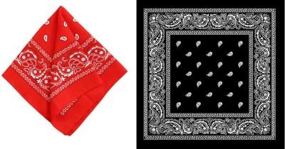 PAROPKAR Bandanas 22 X 22 Inch 100% Cotton Novelty Double Sided Print Paisley Cowboy Bandana Party Favor Scarf Headband Handkerchiefs [