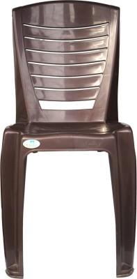 Nilkamal 4025 Plastic Cafeteria Chair(BROWN)