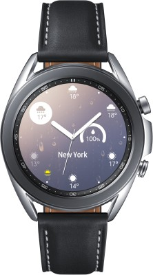 Samsung Galaxy Watch 3 Smartwatch(Black Strap, Regular)