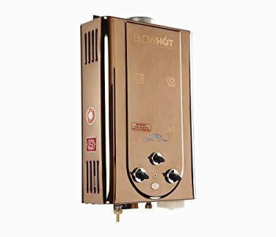 BlowHot 6 L Gas Water Geyser (Automatic LPG Gas Water Heater Geyser, Instant 6 LTR Water Flow, ISI Marked with 1 Year Warranty, Metallic Gold)