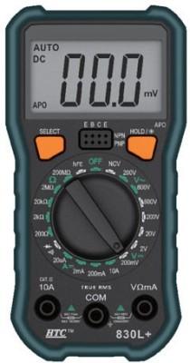 HTC 830L+ Digital Multimeter(Black, Green 2000 Counts)
