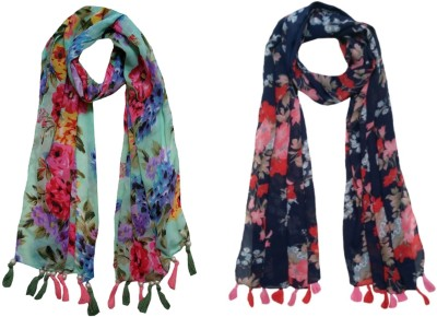 FABS Collection Printed Chiffon Women Scarf, Stole, Fancy Scarf