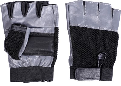 Vista LEATHER GREY Gym & Fitness Gloves(Grey, Black)