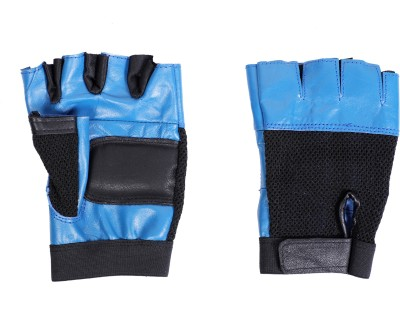 Vista LEATHER GREY Gym & Fitness Gloves(SKY, Black)