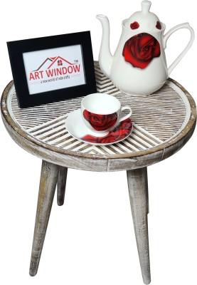 Art Window Line White Coffee Table Living & Bedroom Stool(White)