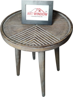 Art Window Line Grey Coffee Table Living & Bedroom Stool(Grey)