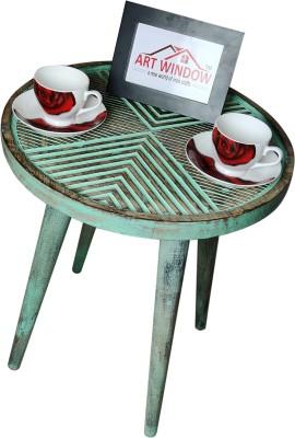 Art Window Line Green Coffee Table Living & Bedroom Stool(Green)
