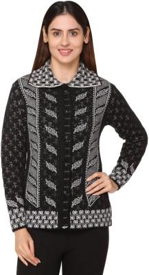 PIPASA Woven Collared Neck Formal Women Black Sweater