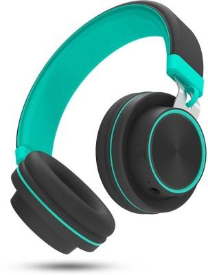 Molife Drum500 Bluetooth Headset(Black, Aqua Green, On the Ear)