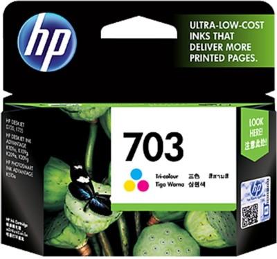 raj enterprises HP 703 Ink Cartridge Tri Color Ink Toner raj enterprises Toners